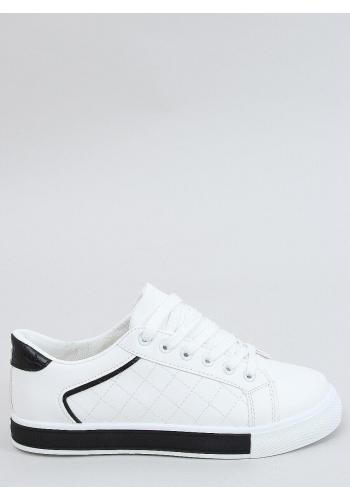 Bílo-černé klasické tenisky s prošívaným vzorem pro dámy