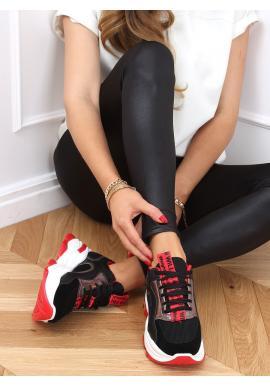 Stylové dámské tenisky černé barvy s vysokou podrážkou
