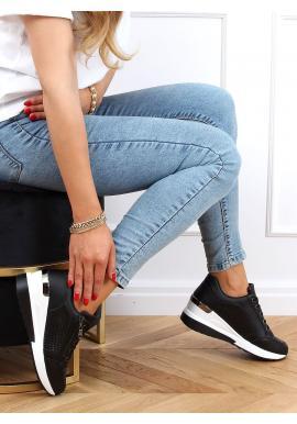 Originální dámské tenisky černé barvy na skrytém podpatku