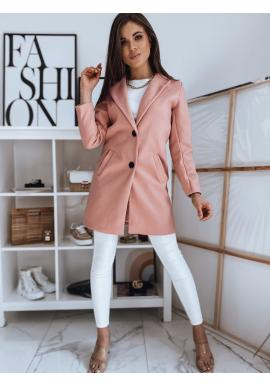 Broskvový klasický kabát se dvěma knoflíky pro dámy