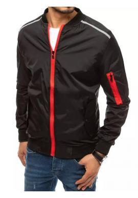 Pánská přechodná bunda s reflexními doplňky v černé barvě