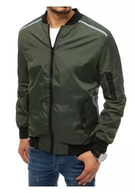 Zelená přechodná bunda s reflexními doplňky pro pány