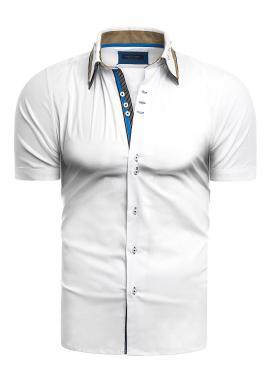 Pánské elegantní košile s krátkým rukávem v bílé barvě