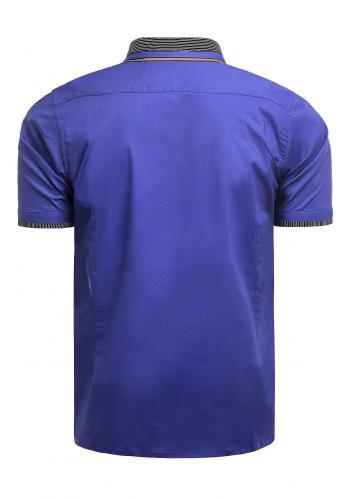 Modrá neformální košile s krátkým rukávem pro pány