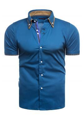Mořská elegantní košile s krátkým rukávem pro pány
