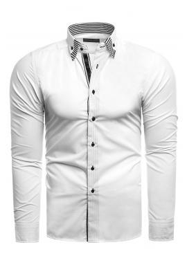 Elegantní pánská košile bílé barvy s dlouhým rukávem