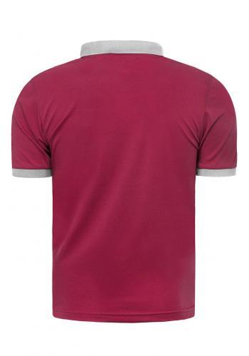 Pánská klasická polokošile s třemi knoflíky v růžové barvě