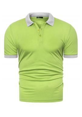 Zelená klasická polokošile s třemi knoflíky pro pány
