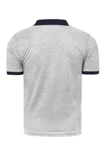 Pánské klasické polokošile s třemi knoflíky v šedé barvě