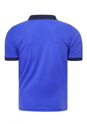 Modrá klasická polokošile s třemi knoflíky pro pány