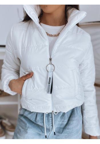 Bílá krátká prošívaná bunda pro dámy