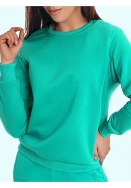 Dámská klasická mikina bez kapuce v zelené barvě