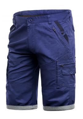 Modré módní kraťasy s kapsami pro pány