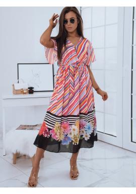 Maxi dámské šaty s barevným vzorem