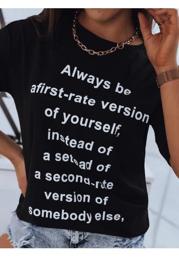 Černé delší tričko s potiskem pro dámy
