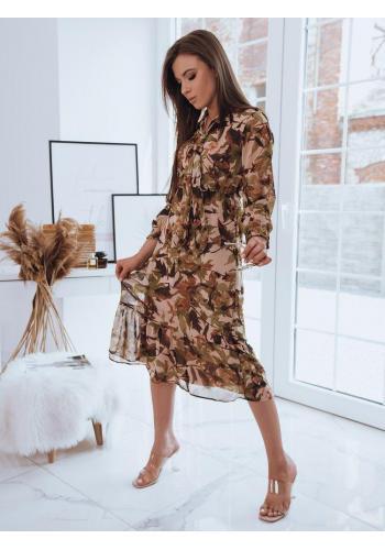 Barevné dlouhé šaty se vzorem pro dámy