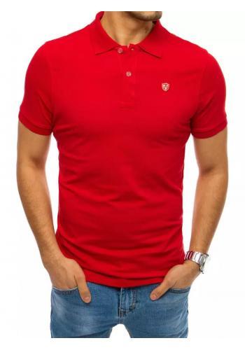 Pánská klasická polokošile s nášivkou v červené barvě
