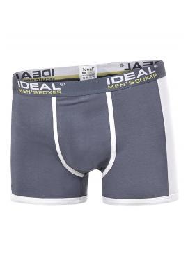 Tmavě modré bavlněné boxerky s kontrastními vložkami pro pány
