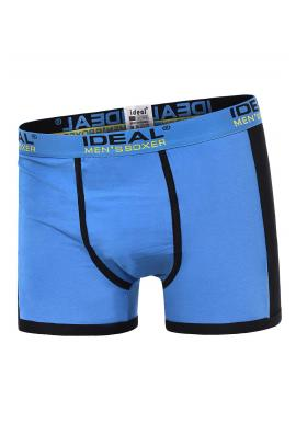 Světle modré bavlněné boxerky s kontrastními vložkami pro pány