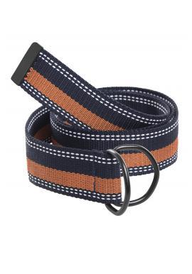 Modro-hnědý látkový pásek pro pány