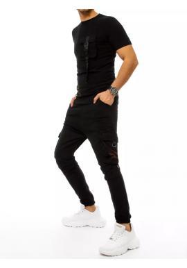 Černý komplet trička a kalhot s potiskem pro pány