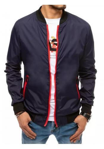 Přechodná pánská bunda tmavě modré barvy ve výprodeji
