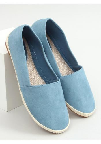 Dámské semišové espadrilky v světle modré barvě