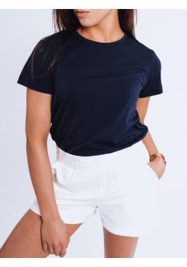 Klasické dámské tričko modré barvy s krátkým rukávem