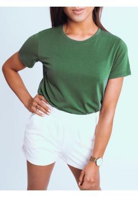 Zelené klasické tričko s krátkým rukávem pro dámy