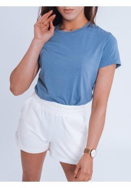 Klasické dámské trička světle modré barvy s krátkým rukávem