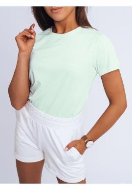 Světle zelené klasické tričko s krátkým rukávem pro dámy