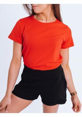 Dámské klasické tričko s krátkým rukávem v červené barvě