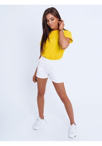 Klasické dámské tričko žluté barvy s krátkým rukávem