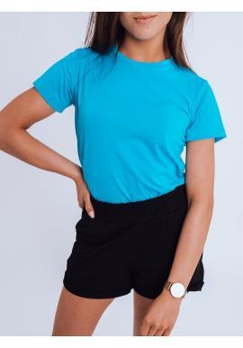 Dámské klasické tričko s krátkým rukávem v světle modré barvě