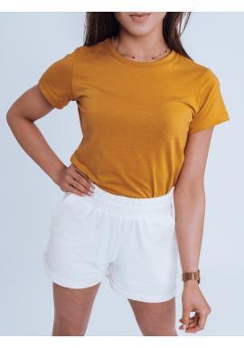 Klasické dámské tričko khaki barvy s krátkým rukávem