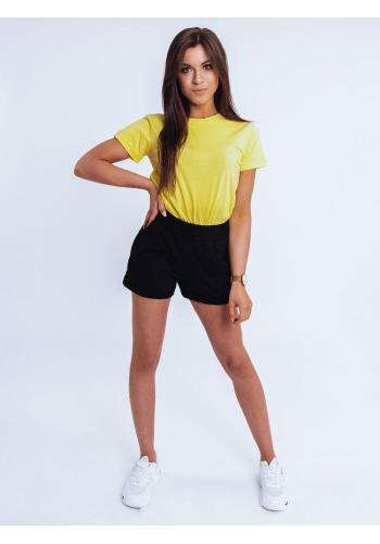 Dámské klasické tričko s krátkým rukávem v světle žluté barvě