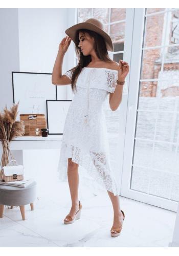 Bílé boho šaty s odhalenými rameny pro dámy