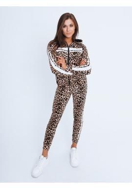 Dámský leopardí komplet s bílými pruhy