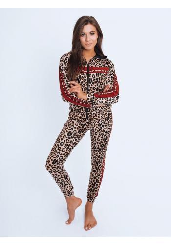 Dámský leopardí komplet s červenými pruhy