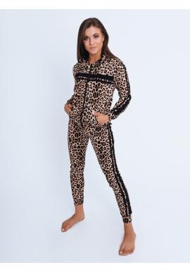 Leopardí dámský komplet s černými pruhy