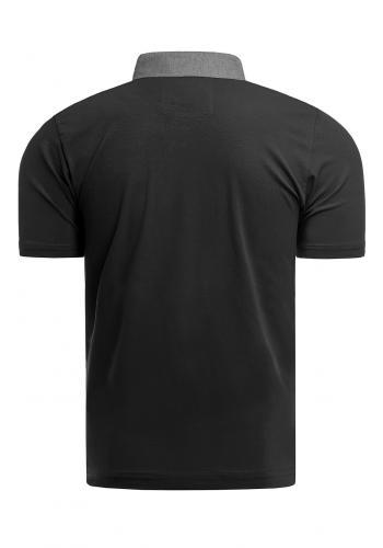 Bavlněná pánská polokošile černé barvy