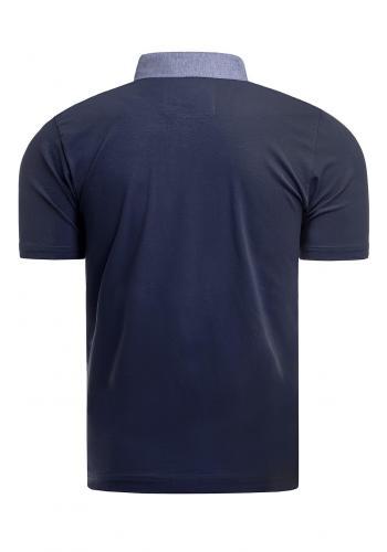 Pánská bavlněná polokošile v tmavě modré barvě