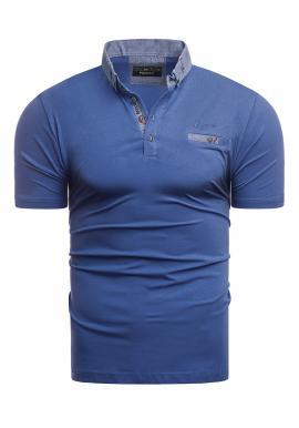 Pánská bavlněná polokošile v modré barvě