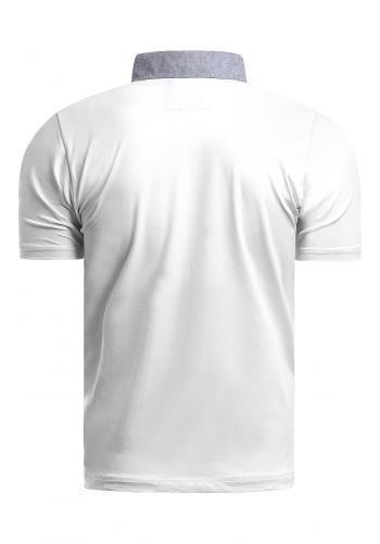 Bavlněné pánské polokošile bílé barvy