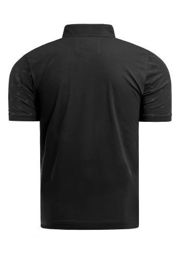 Pánská vzorovaná polokošile v černé barvě