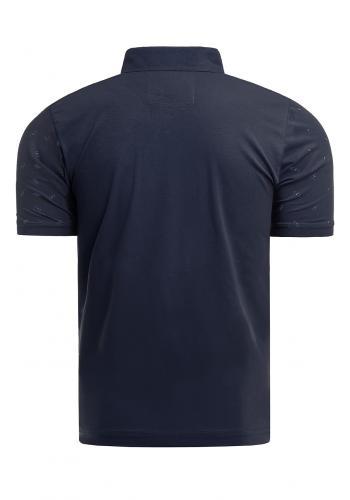 Tmavě modrá vzorovaná polokošile pro pány