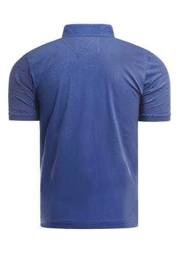 Vzorovaná pánská polokošile modré barvy