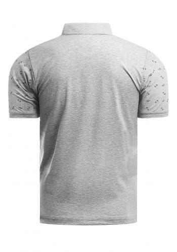 Vzorovaná pánská polokošile šedé barvy