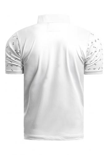 Pánské vzorované polokošile v bílé barvě