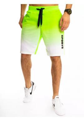 Zelené ombre kraťasy s potiskem pro pány
